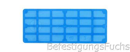 Glasklotz blau