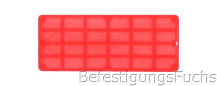 Glasklotz rot