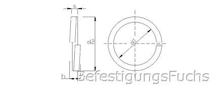 Federringe feuerverzinkt DIN 127 Form B