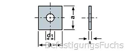 Vierkantscheiben DIN 436 Edelstahl A2